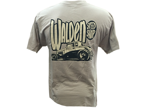 WALDEN SPEED SHOP - 5 WINDOW TEE TAN
