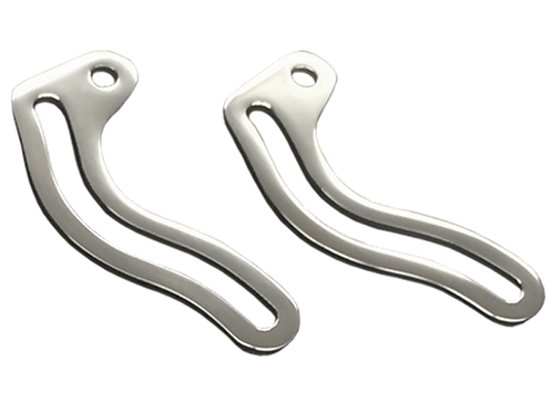 WALDEN SPEED POLISHED STAINLESS CHOPPED WINDSHIELD ARMS