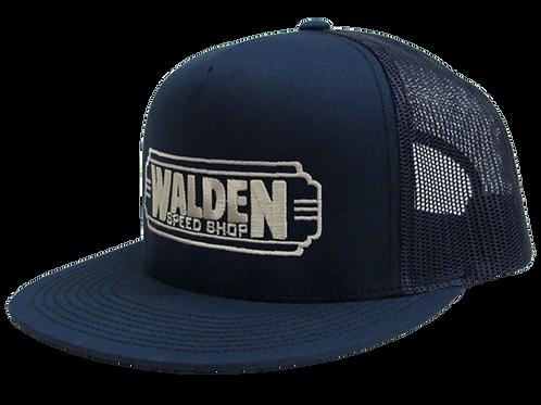 WALDEN SPEED SHOP CLASSIC DECO LOGO HAT NAVY & TAN TRUCKER
