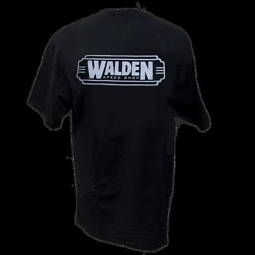 WALDEN SPEED SHOP - CLASSIC LOGO SILVER & BLACK