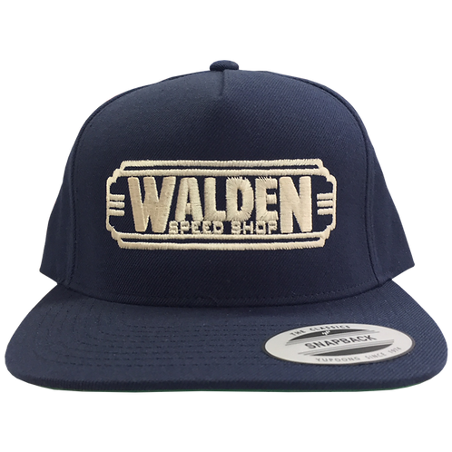 WALDEN SPEED SHOP CLASSIC DECO LOGO HAT NAVY & TAN