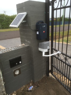 Solar powered gate