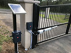 Solar powered swing gate