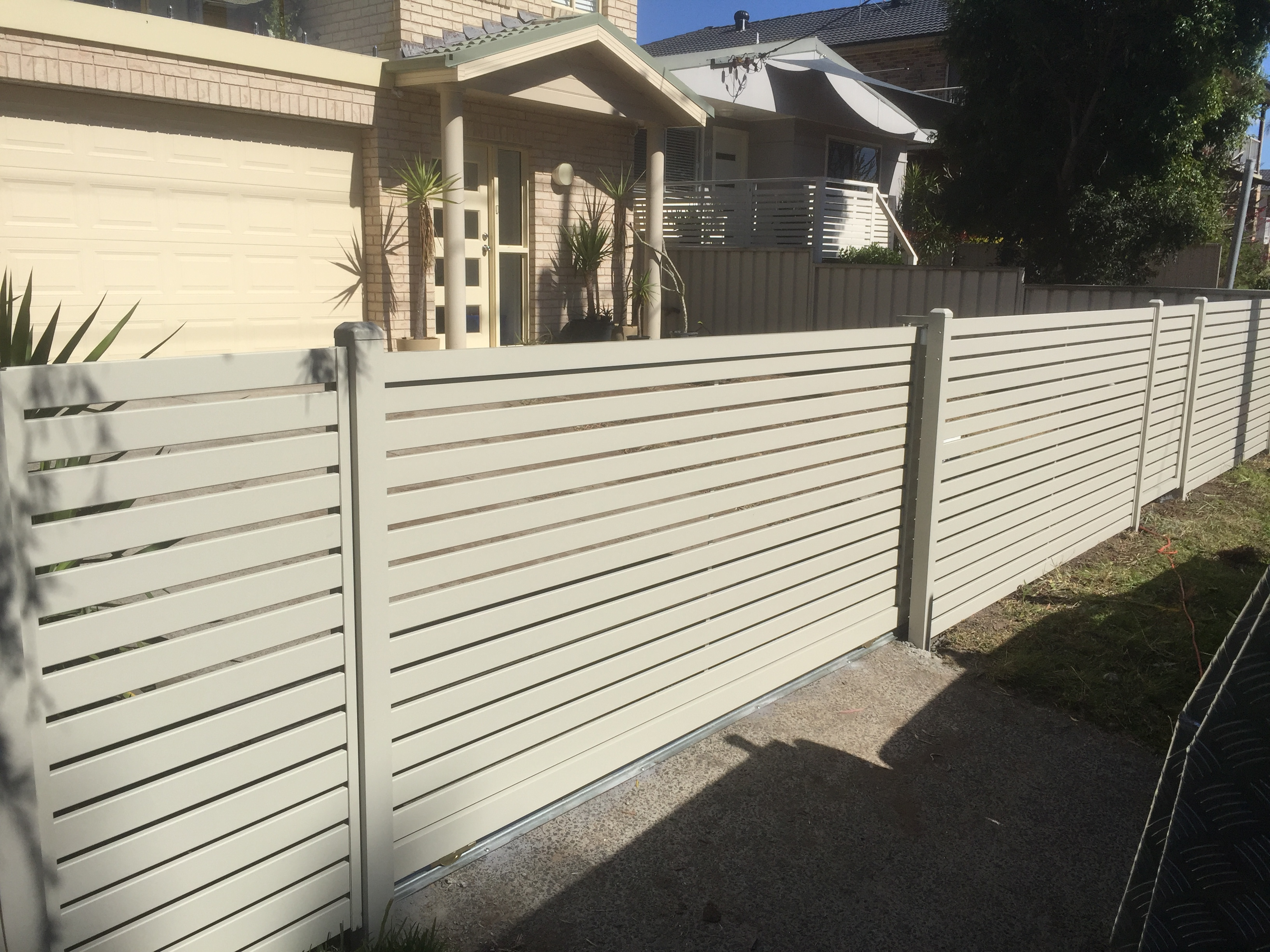 Slat gate and fencining