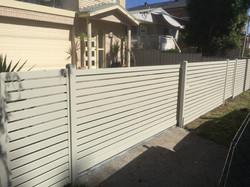 Slat gate and fencining