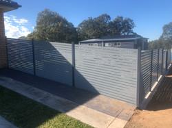 Slat fence