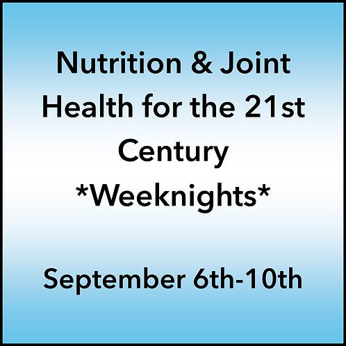 September 6th-10th 2021 Weeknight Webinar TBCE Approval #T07-11859