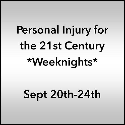 September 20th-24th 2021 Weeknight Webinar TBCE Approval #T07-11909