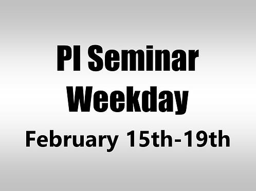 February 15th-19th 2021 Weekday Webinar TBCE Approval #T07-11342