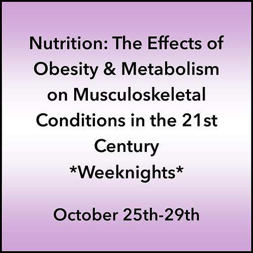 October 25th-29th 2021 Weeknight Webinar TBCE Approval #T07-11881