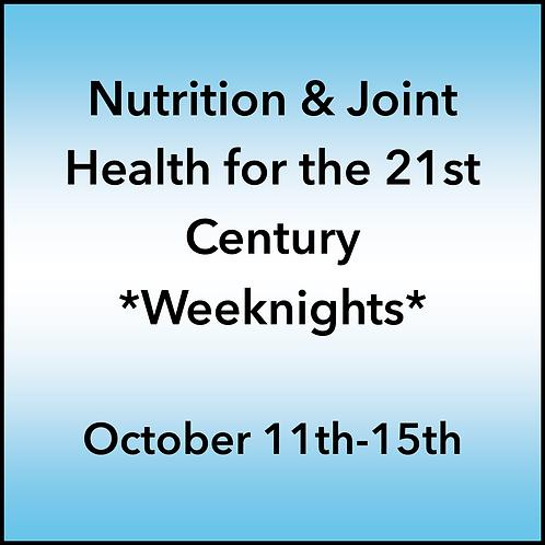 October 11th-15th 2021 Weeknight Webinar TBCE Approval #T07-11861