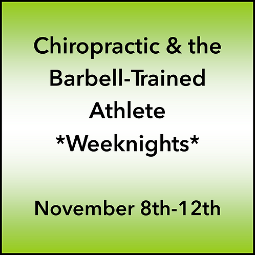 November 8th-12th 2021 Weeknight Webinar TBCE Approval #T07-11809