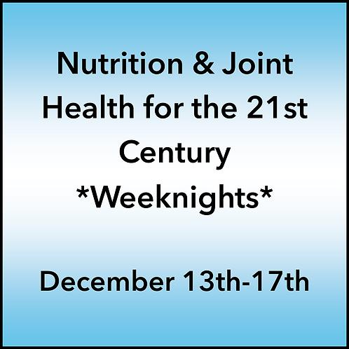 December 13th-17th 2021 Weeknight Webinar TBCE Approval #T07-11866