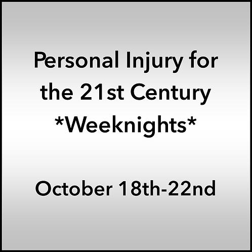 October 18th-22nd 2021 Weeknight Webinar TBCE Approval #T07-11911