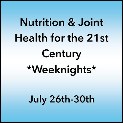 July 26th-30th 2021 Weeknight Webinar TBCE Approval #T07-11856