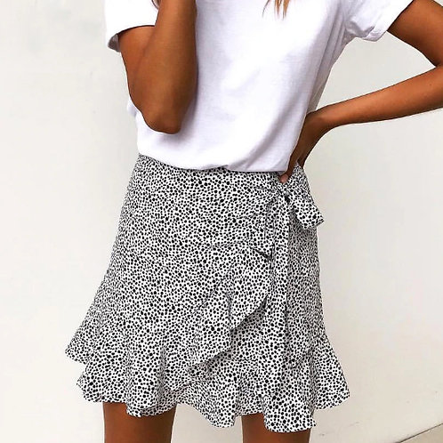 WRAP SKIRT DOTS