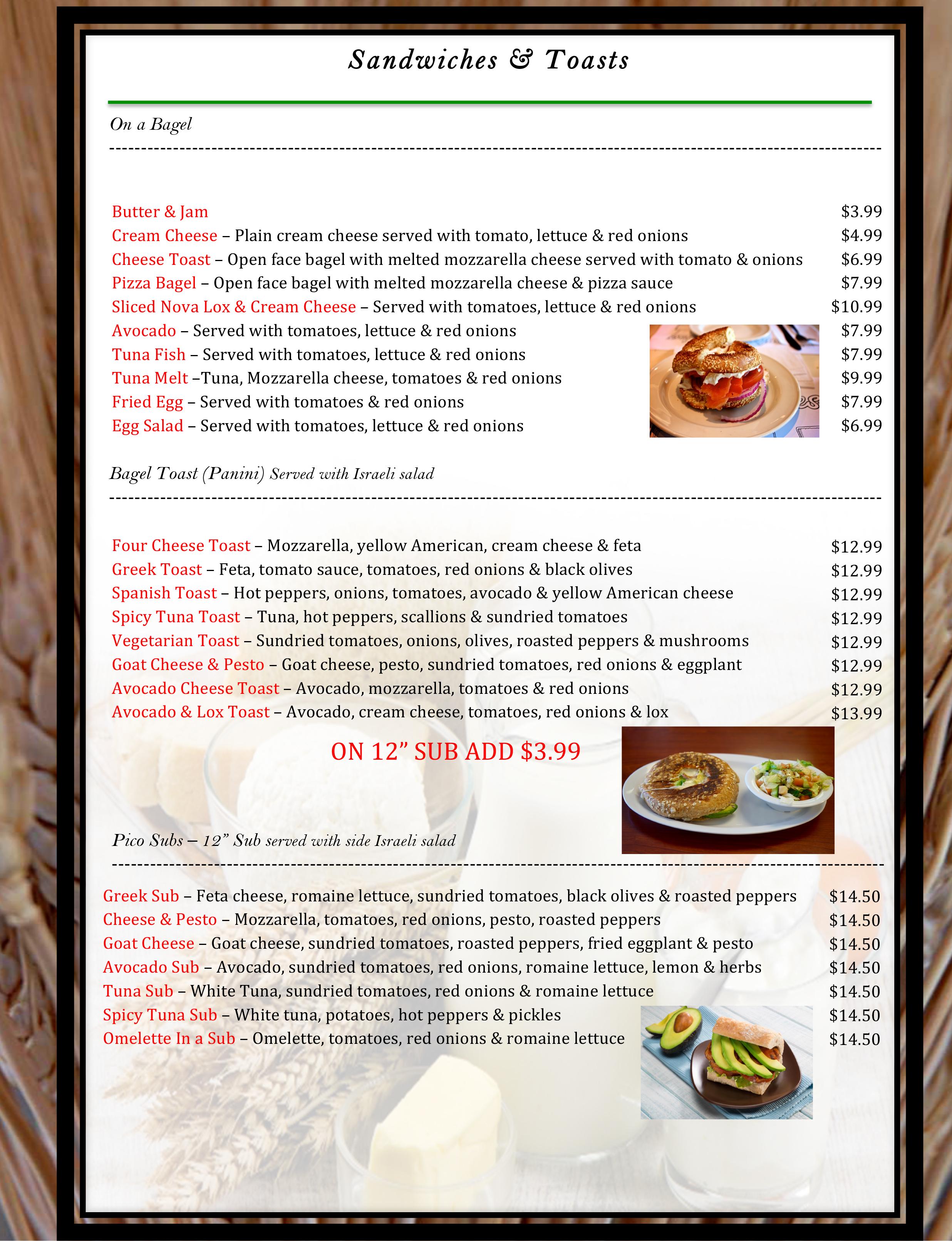 2 pico menu WB19