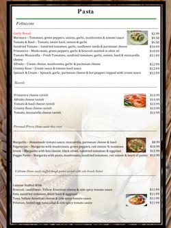 4 pico menu