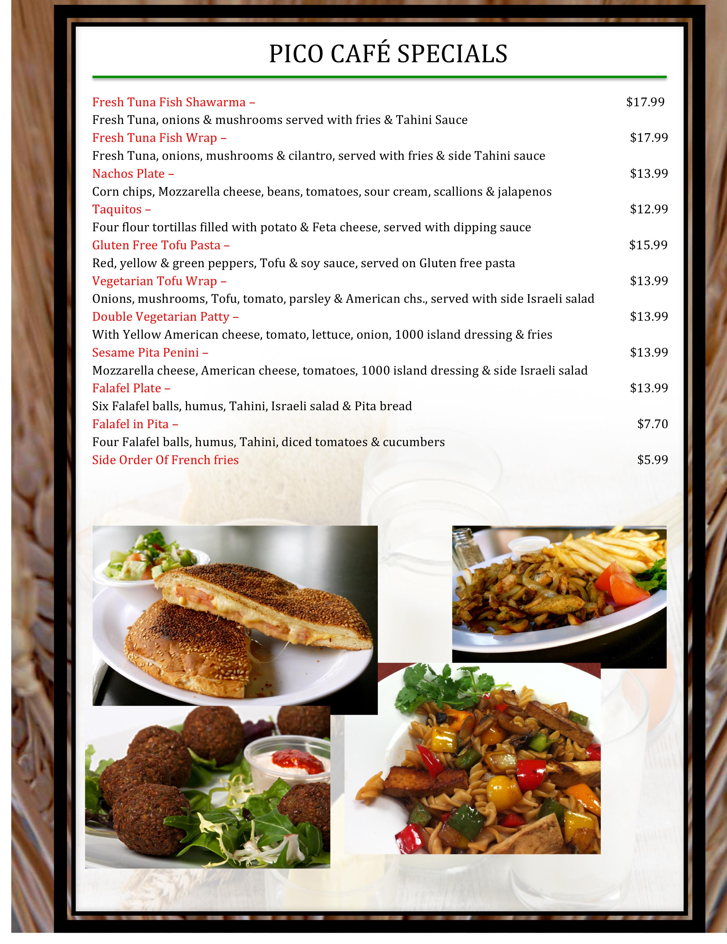 7 pico menu WB19