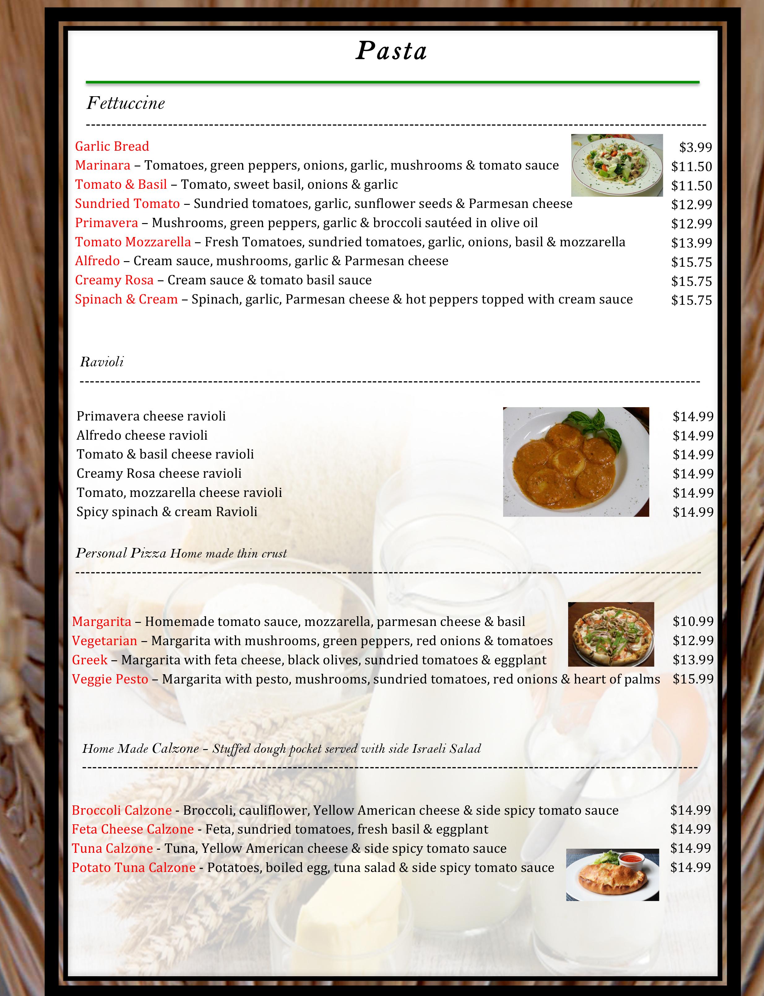 4 pico menu WB19