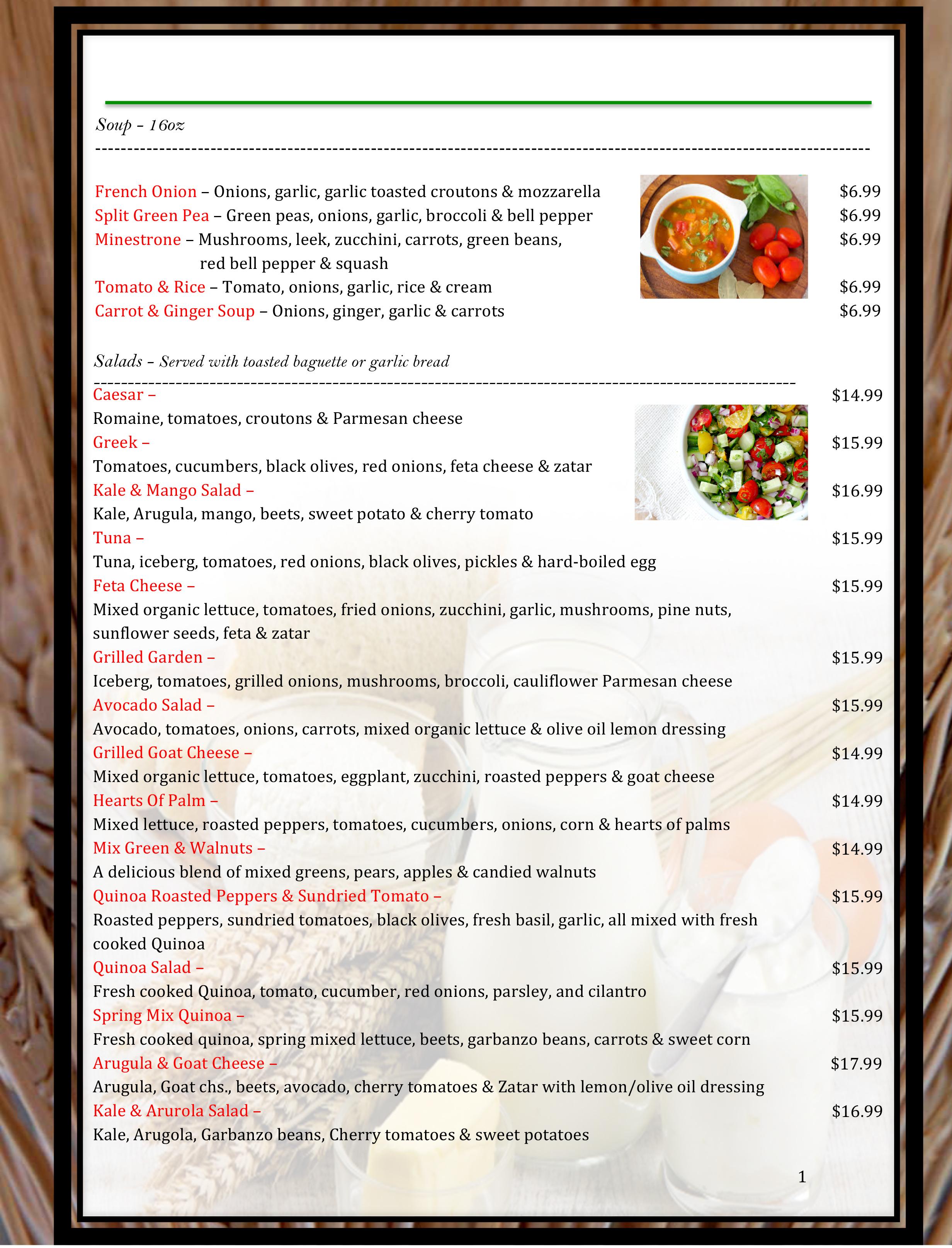 5 pico menu WB19