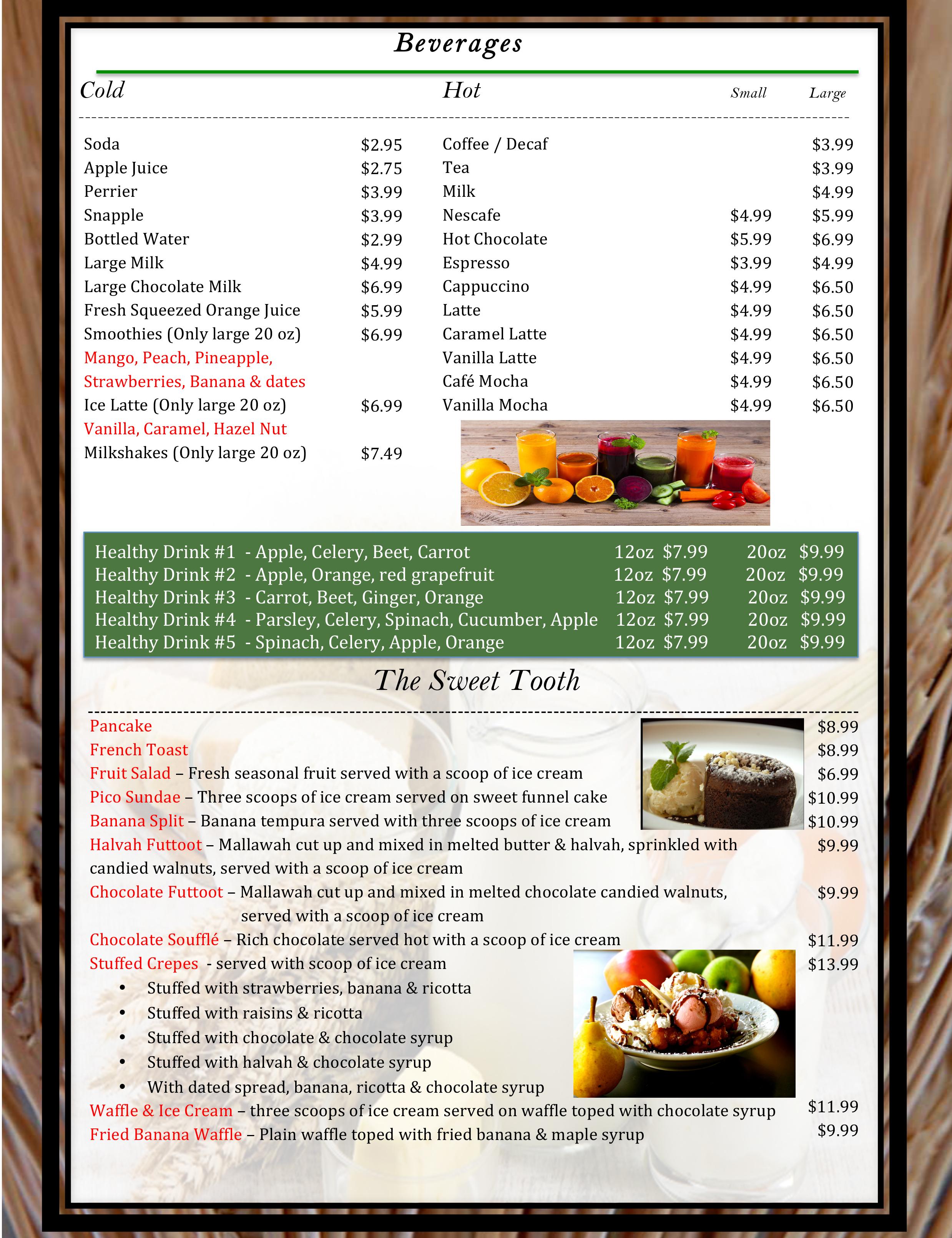 8 pico menu WB19