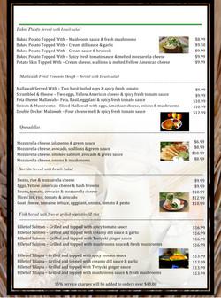 3 pico menu
