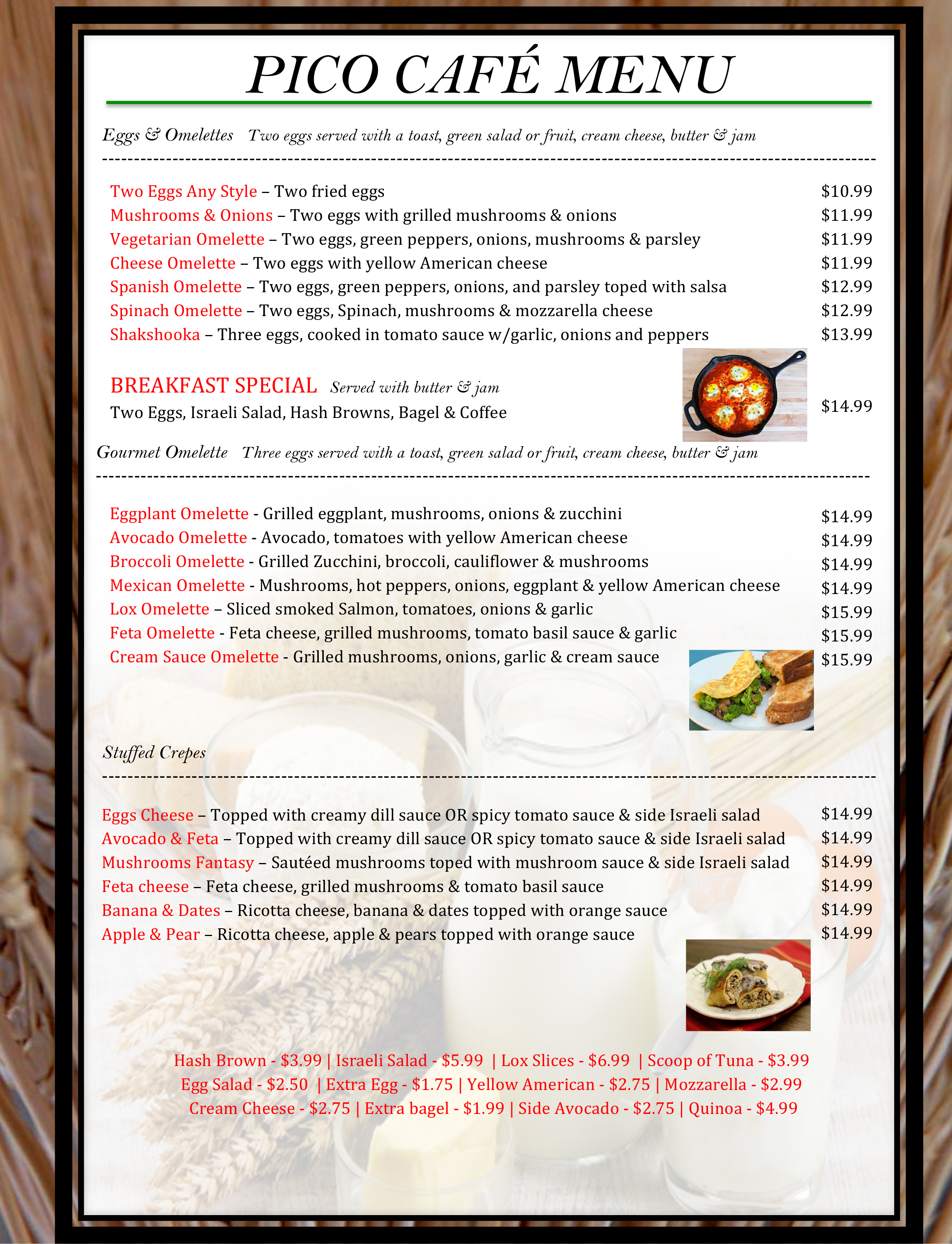 1 pico menu WB19