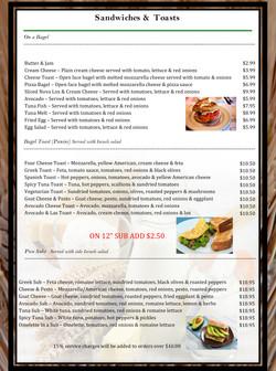 2 pico menu
