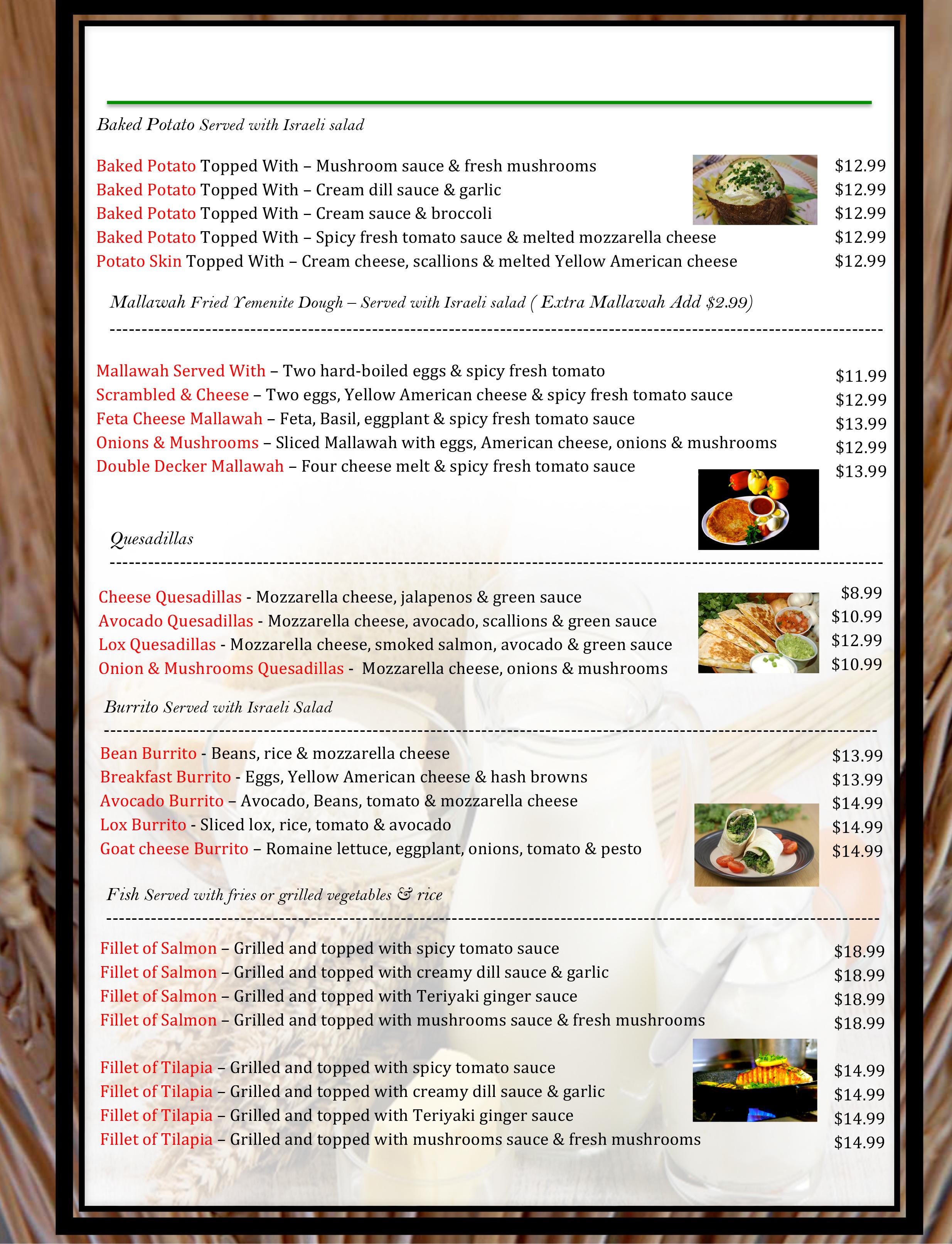 3 pico menu WB19