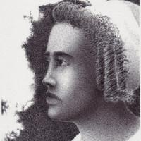 Portrait: Zigzag, 3 Curls