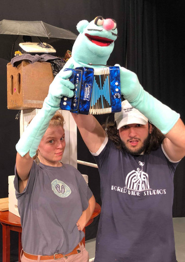 Puppeteering Naked Accordionist