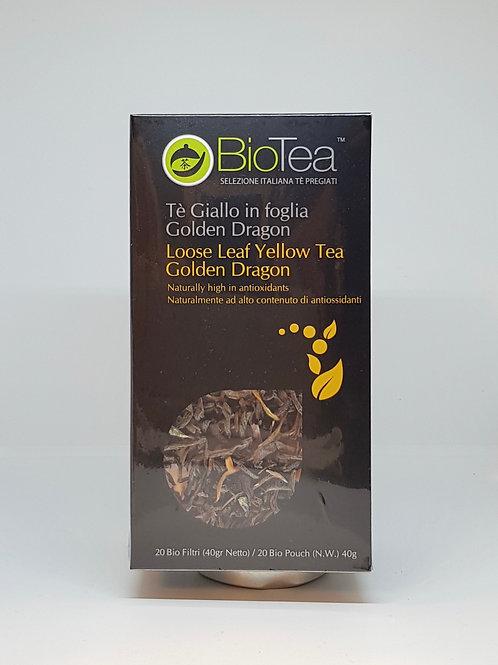 Gele thee van BioTea verpakking