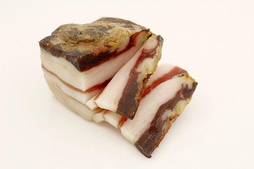 Pancetta, gesneden varkensbuik