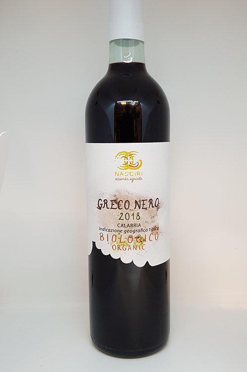 Fles rode greco nero natuurwijn