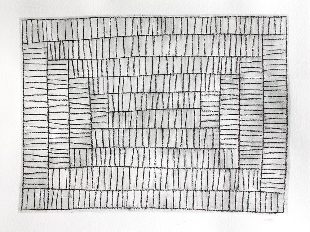 Een zwart wit kunstwerk van Gato.