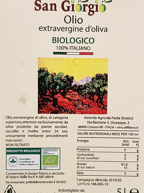 San Giorgio biologische extra vierge olijfolie 5L