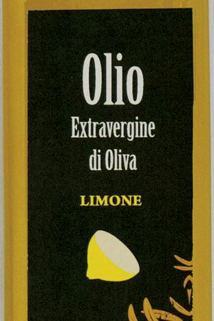 Ingezoomd flesje met het logo van olio extravergine