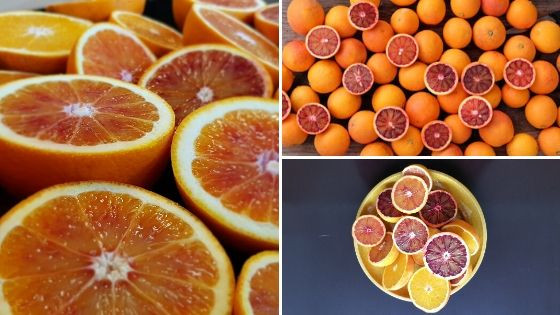 (Tarocco ) sinaasappelen en citroenen