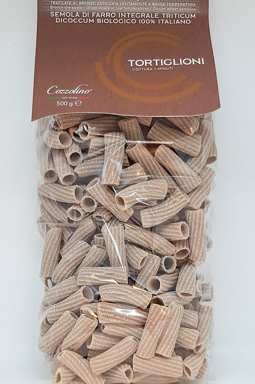 Tortiglioni, spelt, Cozzolino, ambachtelijke Italiaanse pasta