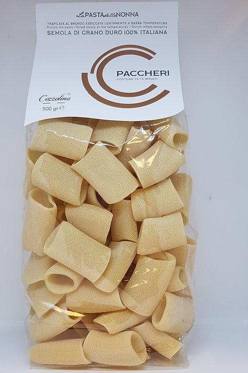 Paccheri, durum tarwe, Cozzolino, ambachtelijke Italiaanse pasta