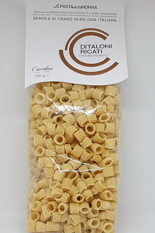 Ditaloni Rigati, durum tarwe, Cozzolino, ambachtelijke Italiaanse pasta