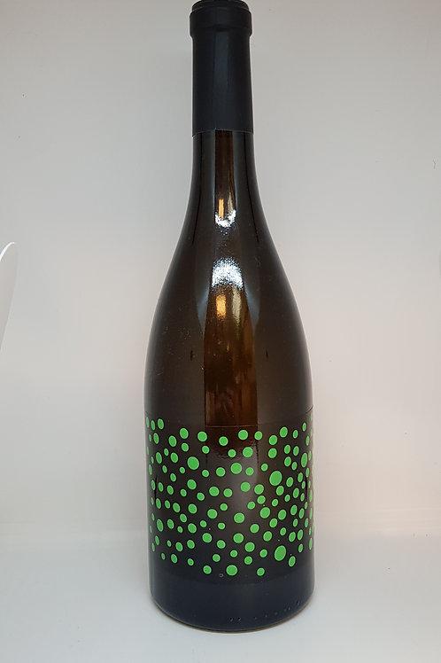 Fles witte wijn, Chakra verde