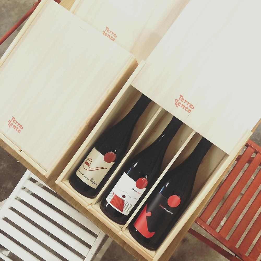 Luxe wijndoos met 3 flessen rode wijn