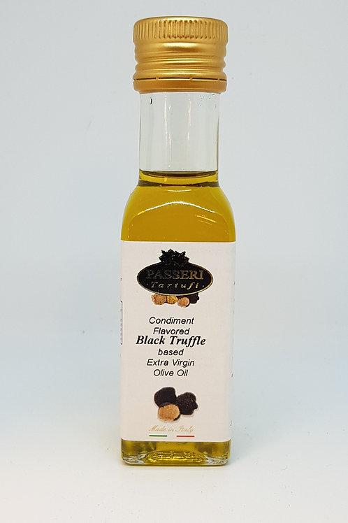 Flesje olijfolie met zwarte truffel
