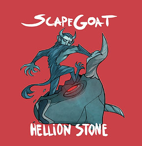 Scapegoat album cover by Hellion Stone