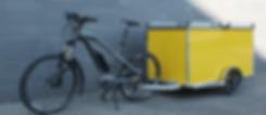 Caisson remorque pour vélo