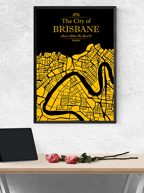 Map of Brisbane - Digital Download