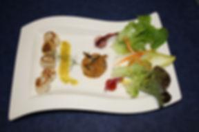 noix de saint jacques poelees et julienn