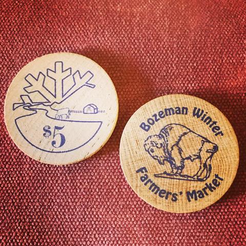 """wooden """"cash"""" tokens"""